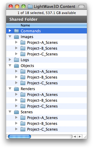 How to Structure a Multi-project Content Folder