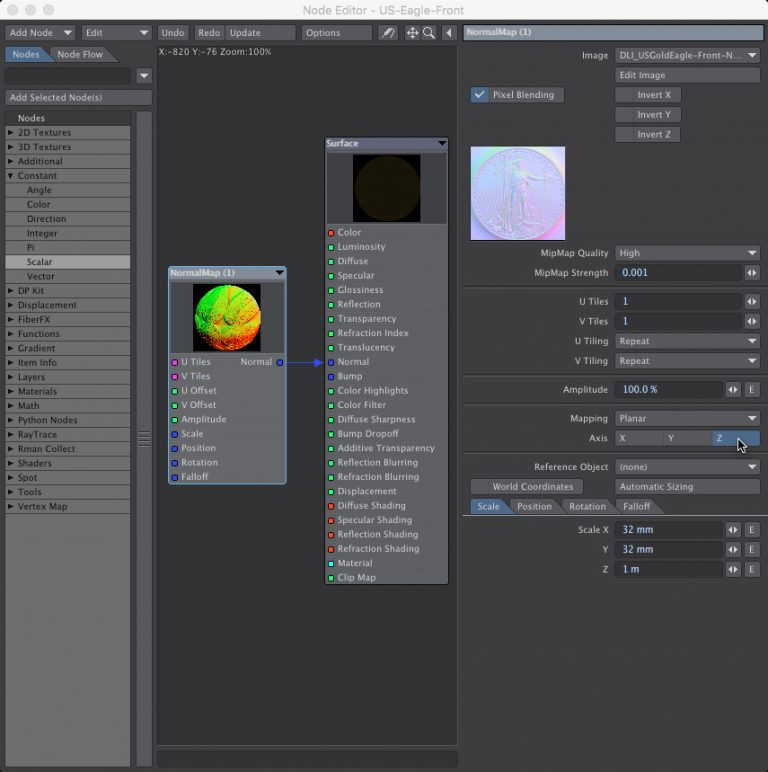 Normal Map Node Editor in LightWave 3D- How to Create Normal Maps from Photographs