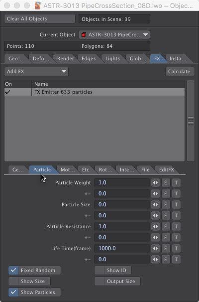 LightWave 3D Particle FX Emitter Partical Tab