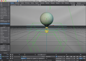 LightWave 3D VPR Perspective View - Animating Dripping Liquid with LightWave 3D Hypervoxels