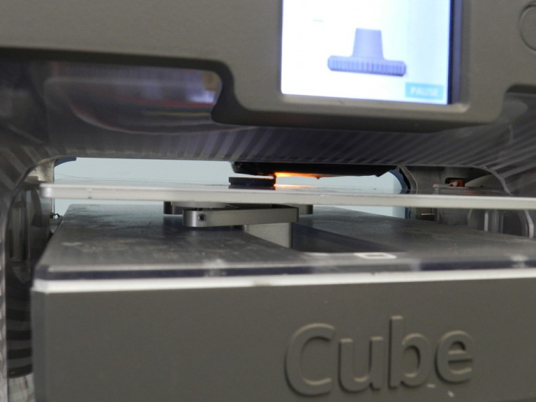3D Printing Missing Thumb Nut on Cube 3 Printer