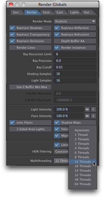 LightWave 3D Layout Render Threads