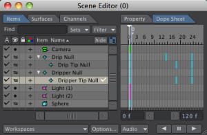 Scene Editor with Animation Keyframes