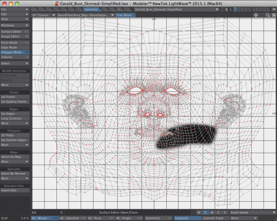 Razor Trim Path UV Map for LightWave 3D Fiber FX