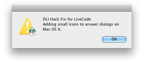 Mac OS X Small App Icon Dialogs