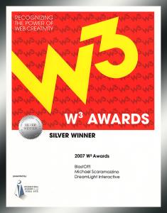 W3 Awards - Silver Winner - Scaramozzino - BlastOff!