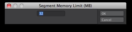 Setting the Segment Memory Limit